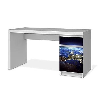 Klebefolie Sticker Tapete Für IKEA Malm Schreibtisch Kommode | Möbel  Dekorieren Einrichtungsfolie Möbelsticker | Home Und