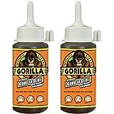 Gorilla Original Waterproof Polyurethane Glue, 4 ounce Bottle, Brown, (Pack of 2) - 5000417