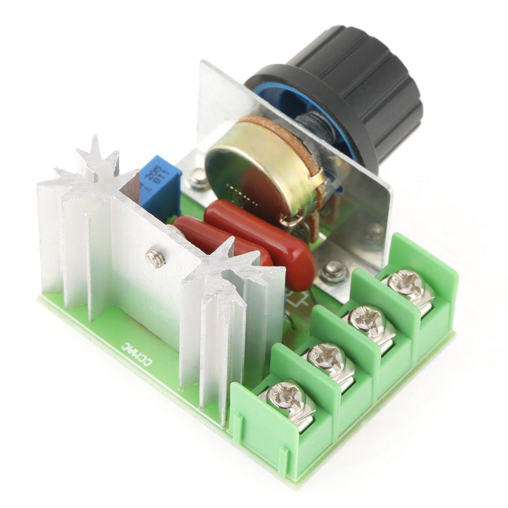 2000W AC 50-220V 25A PWM Voltage Regulator Adjustable Motor Speed Controller Con