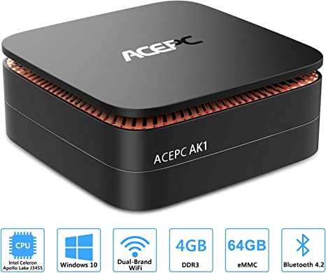ACEPC AK1 Mini PC,Windows 10(64 bits) Procesador Intel Celeron ...