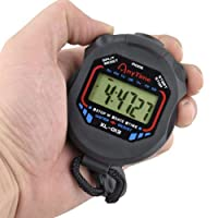 Originaltree Digital Handheld LCD Chronograph Sports Stopwatch Timer Stop Watch with String