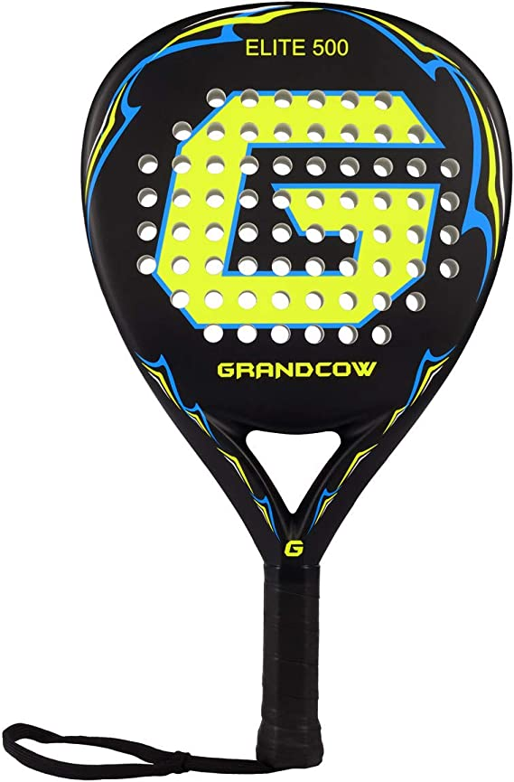 GRANDCOW Beach Paddle/Padel Tennis Racket Carbon Fiber Surface with EVA Memory Flex Foam Core Diamond Shape POP Tennis Paddle Rackets