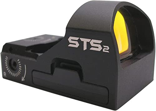 C-MORE Systems STS2 Super Bright Red Dot Sight, Black, Compact | Fast Target Acquisition | Unlimited Eye Relief