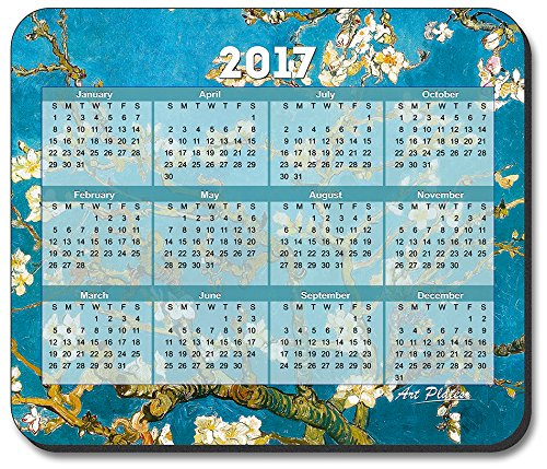 Art Plates brand - Van Gogh - Almond Blossoms Mouse Pad - with 2017 Calendar