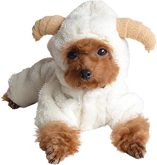 CHUANG TIANG Disfraz De Halloween para Gatos, Ovejas para Mascotas ...