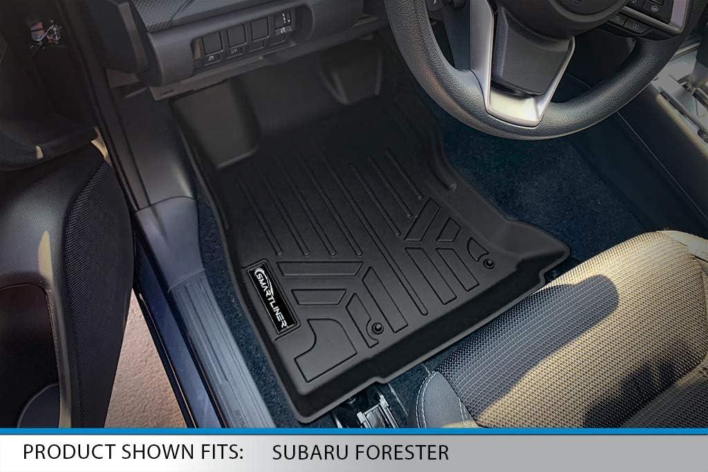 SMARTLINER Custom Fit Floor Mats 2 Row Liner Set Black for 2019-2020 Subaru Forester