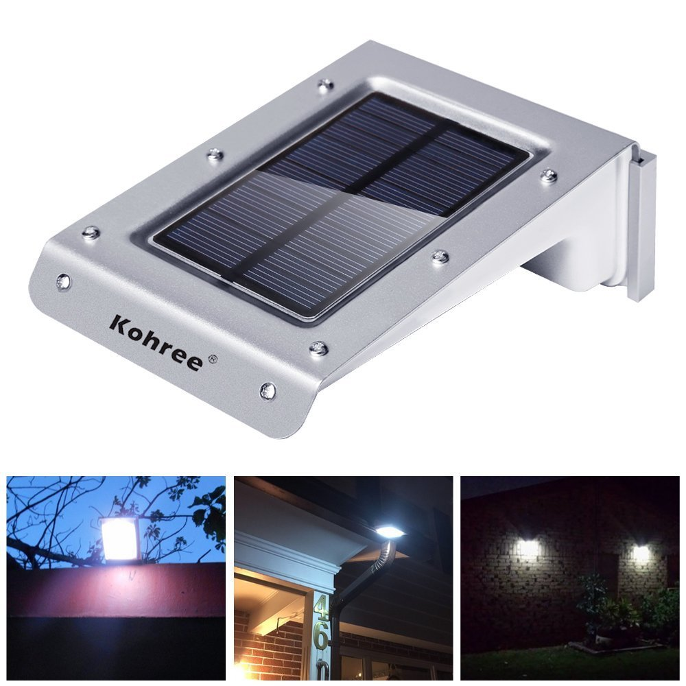 Kohree 20 led bright solar powered motion sensor light outdoor kohree 20 led bright solar powered motion sensor light outdoor garden patio path wall mount gutter fence light security lamp amazon tools home aloadofball Image collections