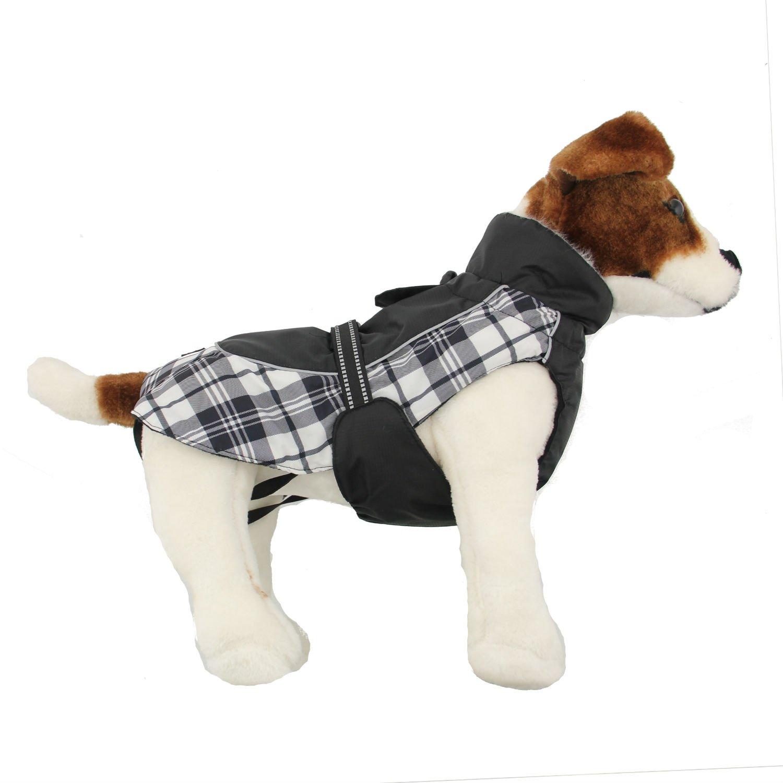 Black and White Xsmall Black and White Xsmall Doggie Design Alpine All Weather Dog Coat Black and White Plaid XS