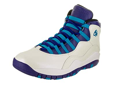 82613ce1c0f9 Jordan Air Retro 10 quot Charlotte Men s Shoes White Concord Blue  Lagoon Black