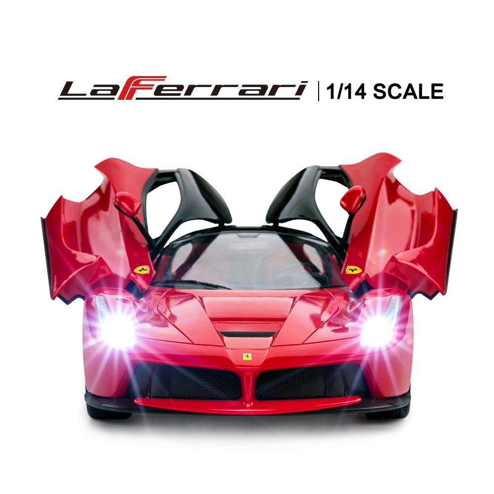 RASTAR RC Car   1/14 Scale Ferrari LaFerrari Radio Remote Control R/C Toy Car Model Vehicle for Boys Kids, Red, 13.3 x 5.9 x 3.3 inch by RASTAR (Image #3)