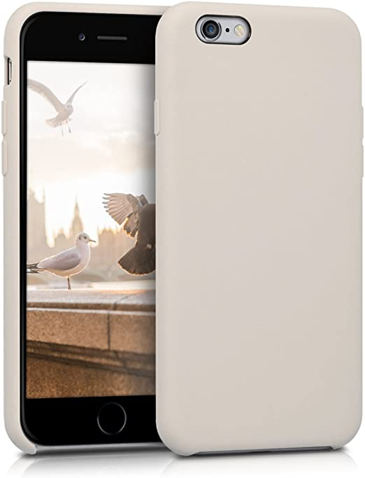 kwmobile TPU Silicone Case Compatible with Apple iPhone 6 / 6S - Case Slim Protective Phone Cover with Soft Finish - Beige Matte