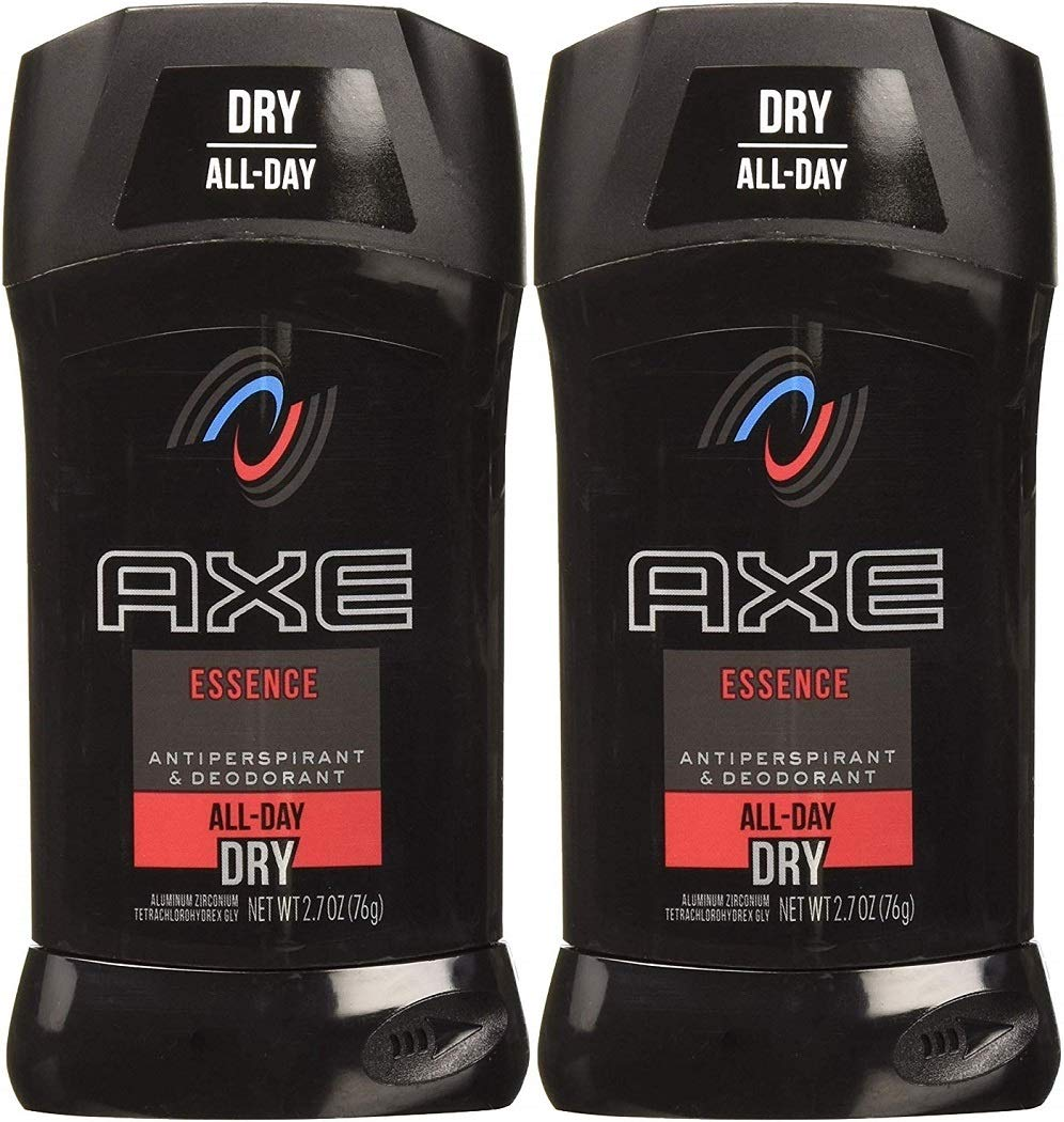 AXE Antiperspirant Invisible Solid, Essence, Dry action, 2.7 Ounce Sticks (Pack of 2)