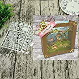 Arts Crafts Big Shadow Box Metal Cutting Dies Frame Craft Cutting Die Embossing Stencil for Handmade Paper Card Making Scrapbooking - (Color: W20180526)