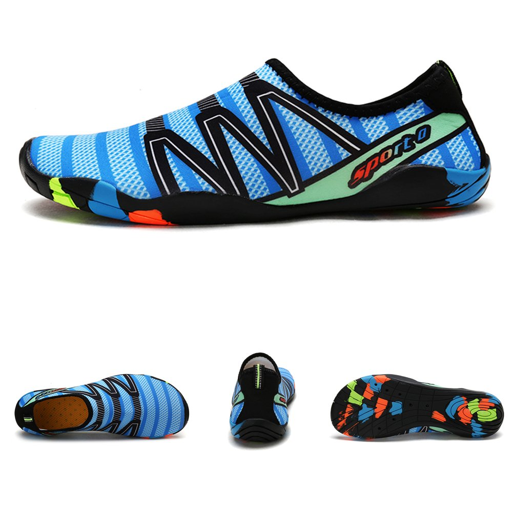 Z-Dawn Breathable Water Shoes for Mens Womens Barefoot Beach Swim Shoes Quick-Dry Aqua Socks Pool Shoes for Surf Yoga Exercise