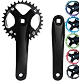 GANOPPER Square Taper Crank Arm Set with 30T 32T 34T 36T 38T 40T Narrow Wide Chainring