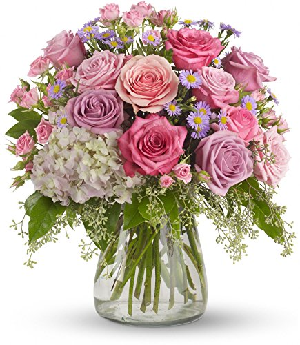 Fasan Florist - ''Pretty in Pink'' - Fresh Hand Delivered Bouquet - Chicago Area by Fasan Florist