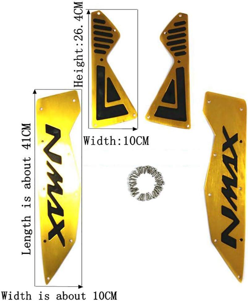 Pedane per Moto per Ya-ma-ha nmax155 nmax 155 2015-2020 2016 2017 2018 2019 poggiapiedi Moto pedana pedana pedana in Alluminio Colore : Nero