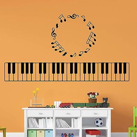 Exquisita música piano teclado extraíble vinilo de arte ...
