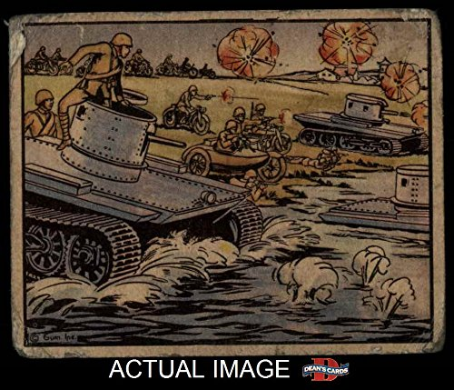 1938 Gum Inc. Horrors of War # 132 Chinese Motorized Unit with Amphibious Tanks (Card) Dean's Cards 1.5 - FAIR 2045007 (Unit Motorized)