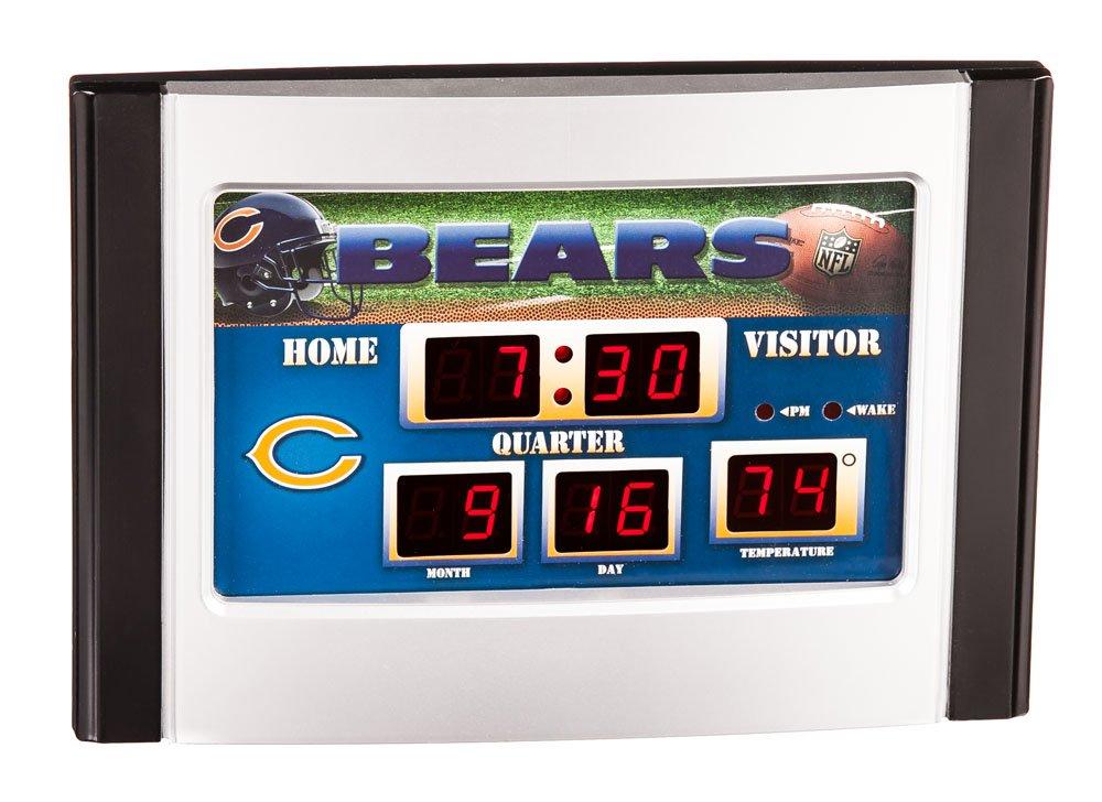NFL Chicago Bears Scoreboard Desk Clock