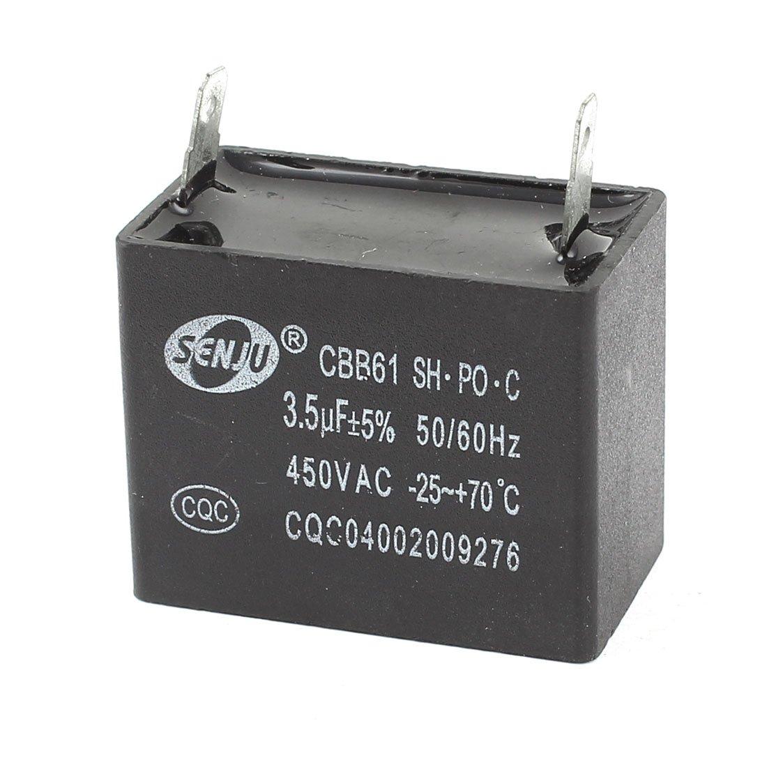 Aexit 3.5uf 5% AC 450 V 2PINS Film polypropylène Motor Run condensateur CBB61 410Y276