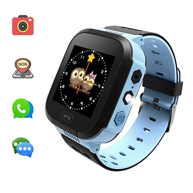Kids Smart Watches can Make Calls and Send Voice, SOS Alarms and LBS Positioning Functions. This is The Best Gift for The Children.