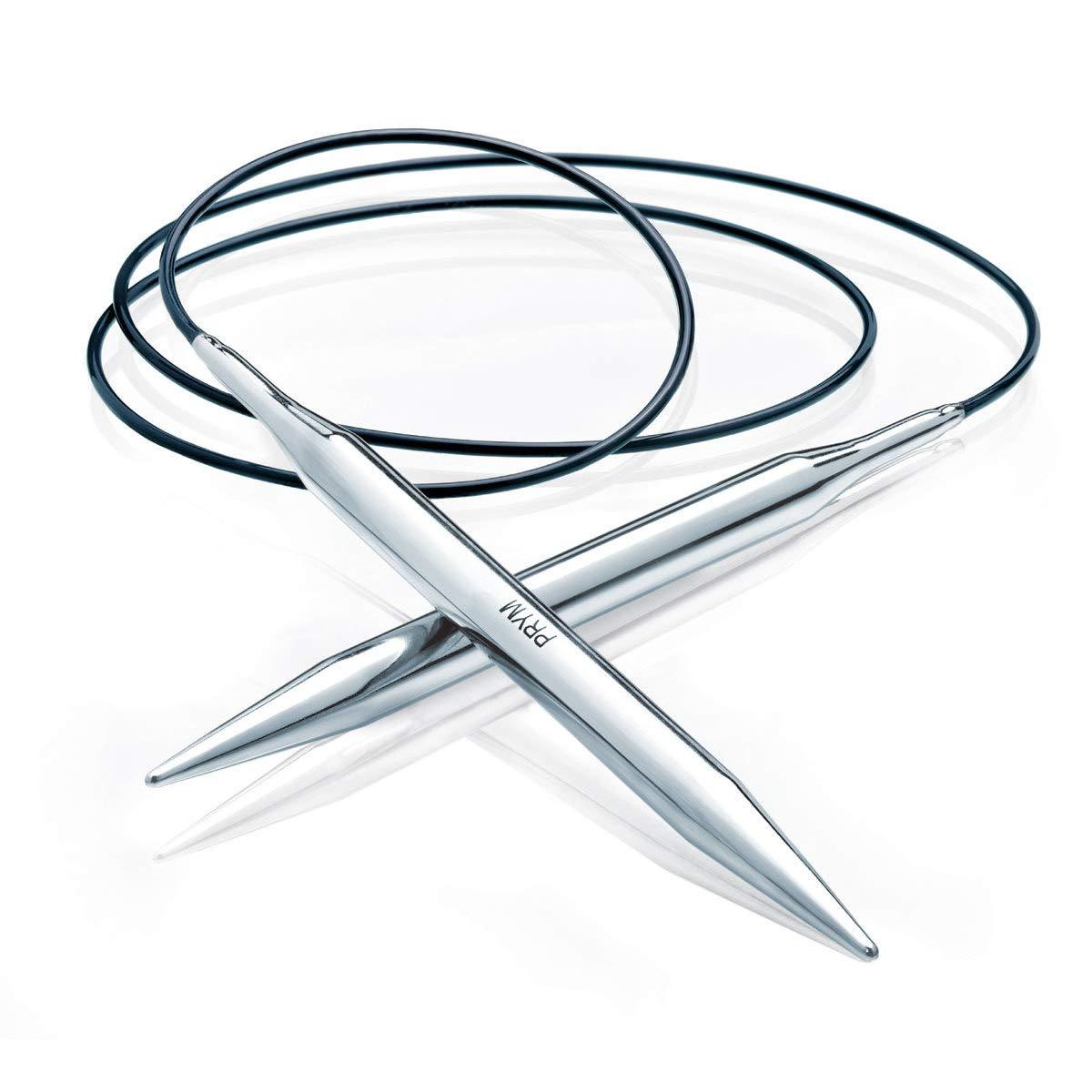40 cm de largo hechas de lat/ón Prym Agujas de tejer circulares 3,5 mm
