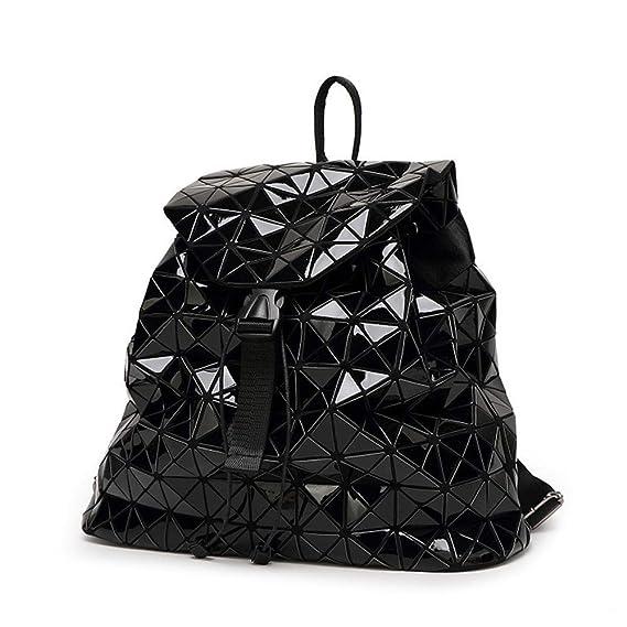 Amazon.com : Myzixuan Mujeres Mochila luminosa geométrica Plaid Sequin mochilas para adolescentes Mochila Bolsa Mochila holográfica : Garden & Outdoor