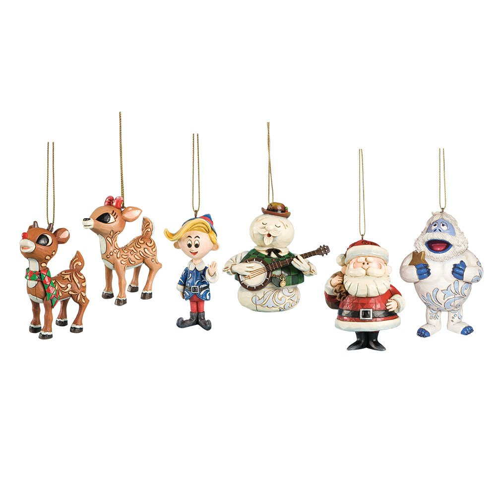 Amazon.com: Rudolph the Red Nosed Reindeer Hanging Ornament Set ...