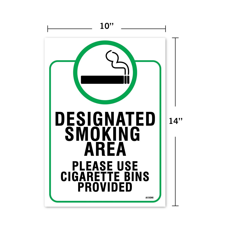 Designated Smoking Area Sign, Large 10 x 14