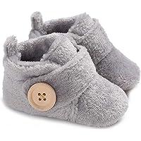Gupgi Botas de bebé de Felpa cálidas Zapatos de Invierno Caliente bebé Prewalker Botas de bebé