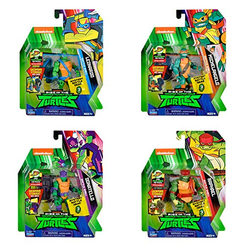 Rise of the Teenage Mutant Ninja Turtle Battle Shell Action Figure Four Pack -