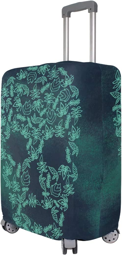 hengpai Skull Flora Travel Luggage Protector Suitcase Cover S 18-20 in