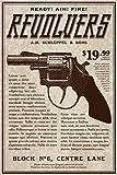 vintage advertisement - Vintage Victorian Style Revolver Handgun Advertisement Art Print Poster 12x18 inch
