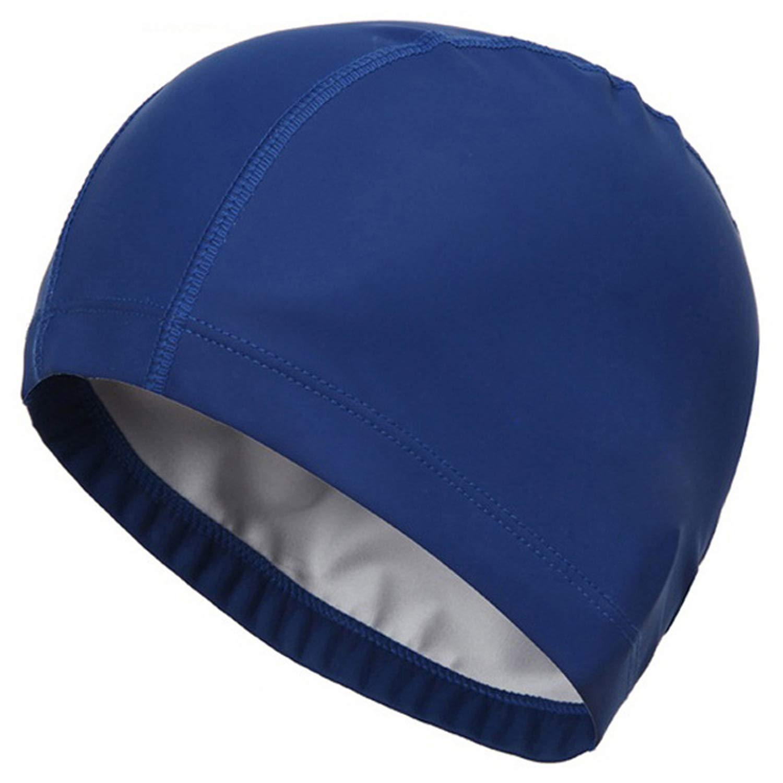 Elastic Fabric Protect Ears Long Hair Swim Pool Hat Swimming Cap For Adults HU