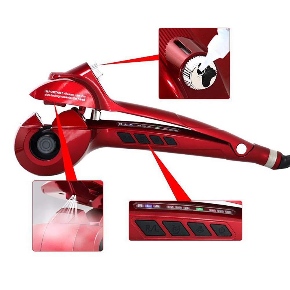 DXXCV Spray Automatic Hair Curler, Hairdressing Tool Steam Perm Without Injury,Red by DXXCV (Image #5)
