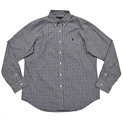 Cheap Polo Ralph Lauren Men's Plaid Poplin Sport Shirt (Pitch Black White) supplier