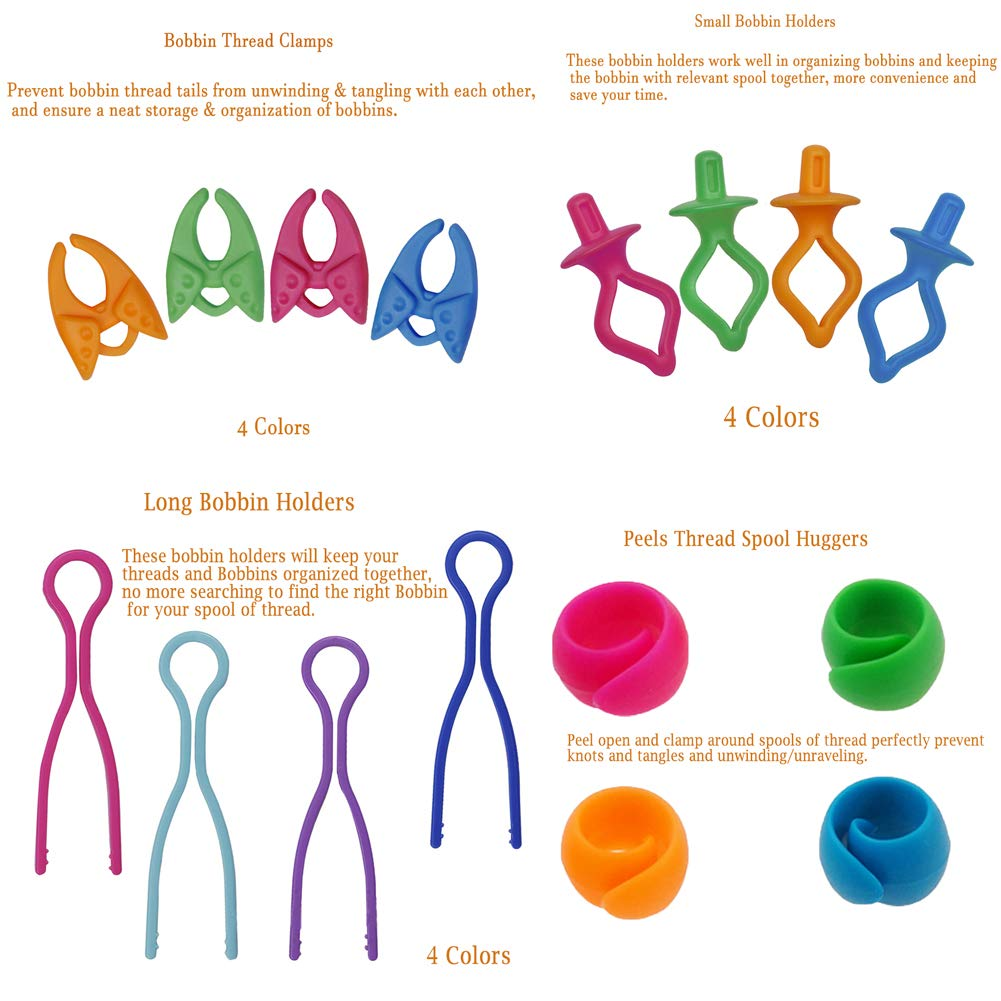 Perfect for Spools of Thread to be Used as Thread Huggers KangNa 60 Pieces Thread Huggers Blue Sewing Supplies and Accessories Green Prevent Thread Unwinding Orange Pink
