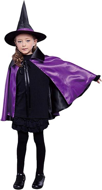 FunPa Halloween Capa Niños, Capa de Halloween Bruja de Halloween ...