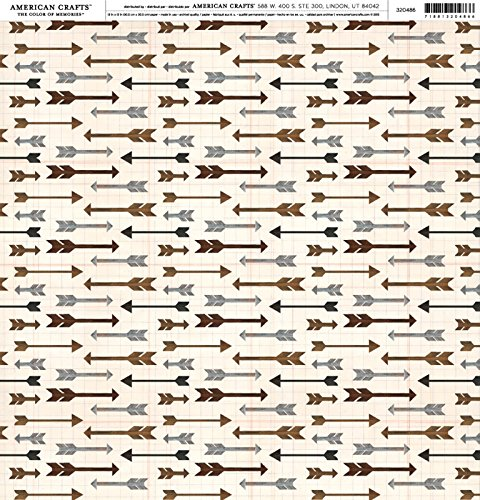 American Crafts - Pebbles -Warm And Cozy - Cardstock 12 x 12 Paper Pattern Arrows