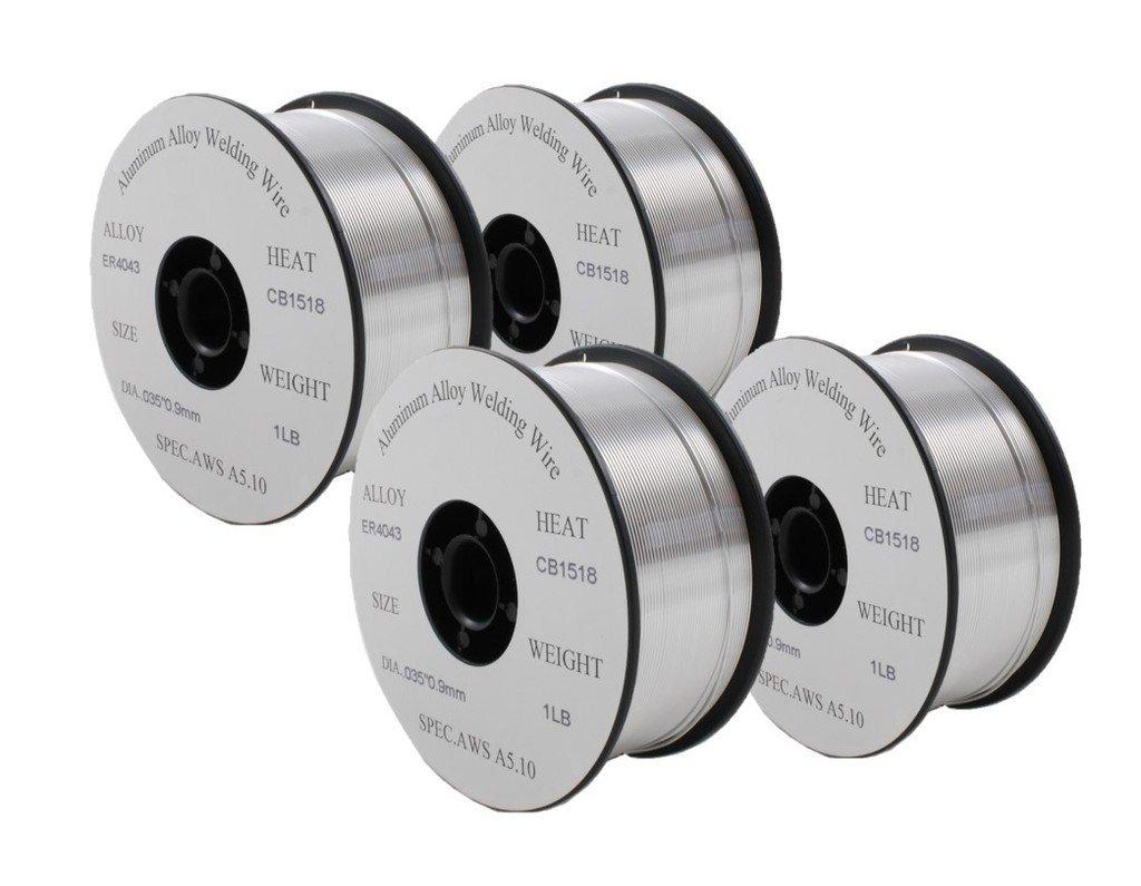 ER4043- MIG Aluminum Welding Wire - 1 Lb x 0.035'' (4 SPOOLS)