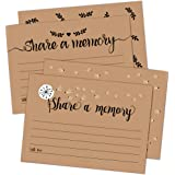50 Share A Memory Cards - Perfect for Celebration of Life, Memorial, Funeral, Retirement, Going Away Party, Birthday…