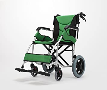 Amazon.com: Silla de ruedas plegable ultraligera con ...