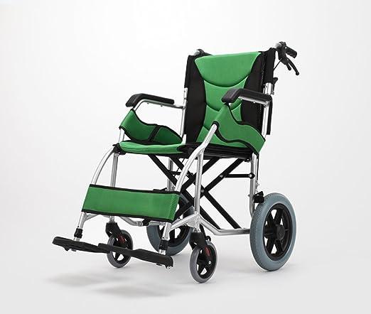 Amazon.com: Silla de ruedas plegable ultraligera con ...