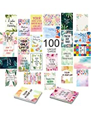 100 Motivational Cards Unique Inspirational Cards for Employees Business Card Sized Encouragement Cards Appreciation Cards Kindness Cards Lunch Box Notes Thinking of You