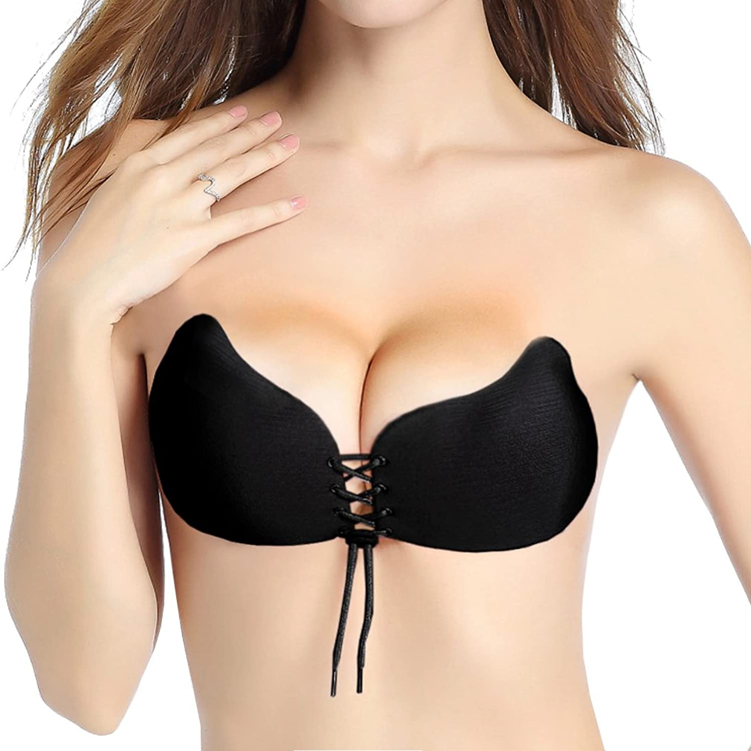 5779925a46d47 【Safe, Skin-friendly Material for the Invisible Bras】: 100% cotton with  biological gel provides stronger stickiness and prevent from dropping; ...
