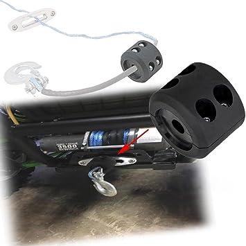 Tapón RUNGAO para ATV y UTV gancho de cable negro para frenar y proteger tornos: Amazon.es: Coche y moto