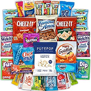 Canopy Snacks - Snacks Care Package (30 Count) – Variety Snack Box Gift Pack – Assortment Bundle with Chips, Cookies, Candy and Granola Bars for College Students or the Office