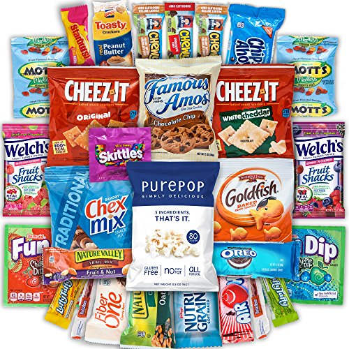 Canopy Snacks - Classic Snacks Care Package - Snack gift, college assortment variety pack bundle (30 count) (College Care Packages Gift Baskets)