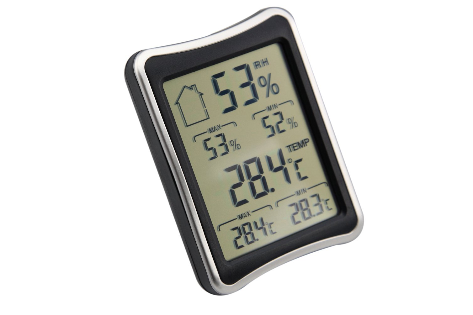 AMTAST Digital LCD Display Thermometer and Hygrometer Gauge, Light Weight and Portable by AMTAST